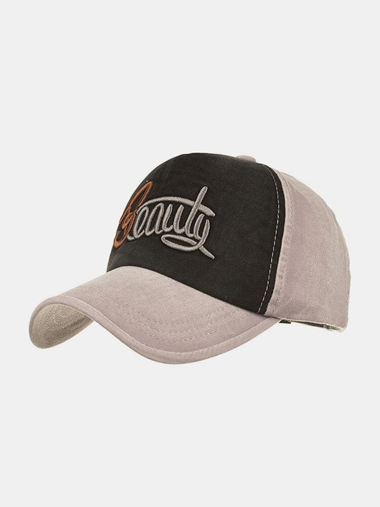 Men Women Washed Baseball Cap Faded Effect Adjustable Outdoor Hat  Sports Hat