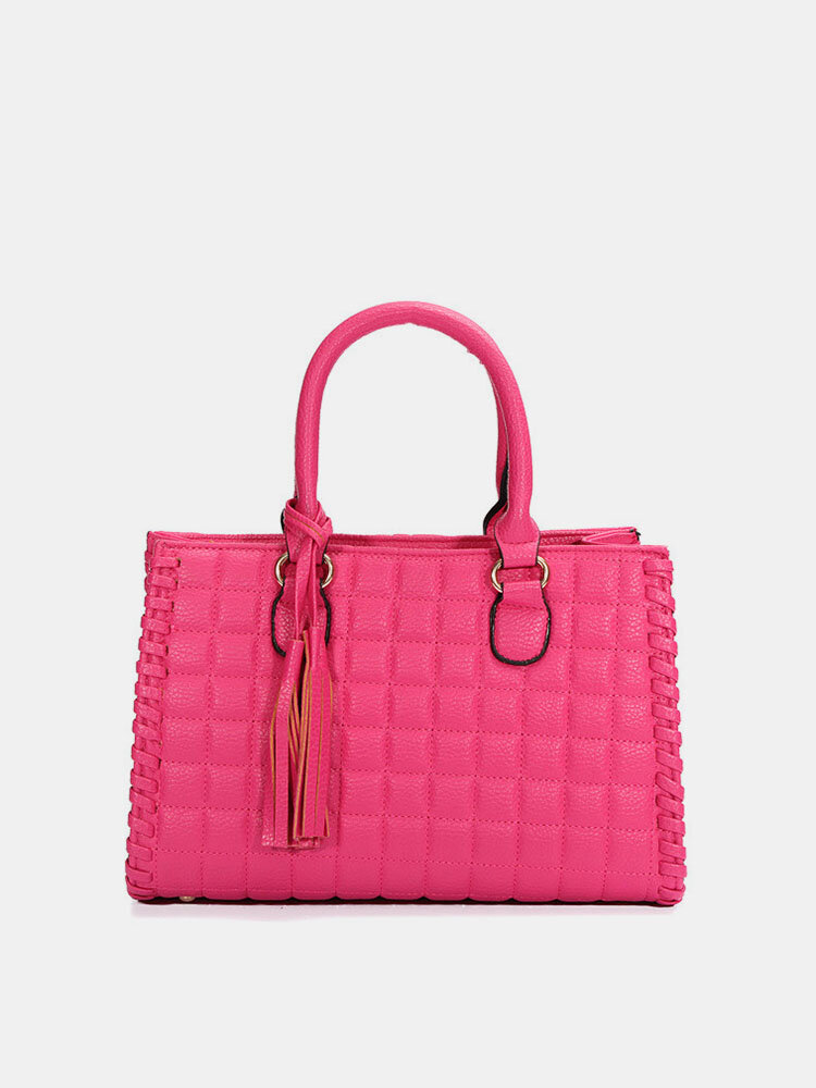 Women Soft Upper Ling Leather Handbag