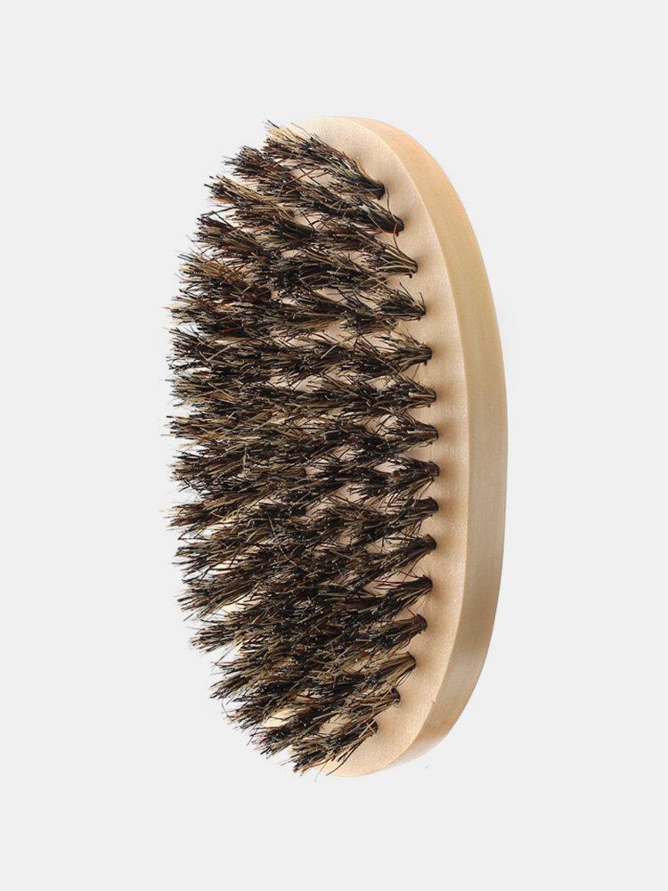 イノシシの剛毛の最も厚いひげの飼いならしの櫛の木製のやしブラシ