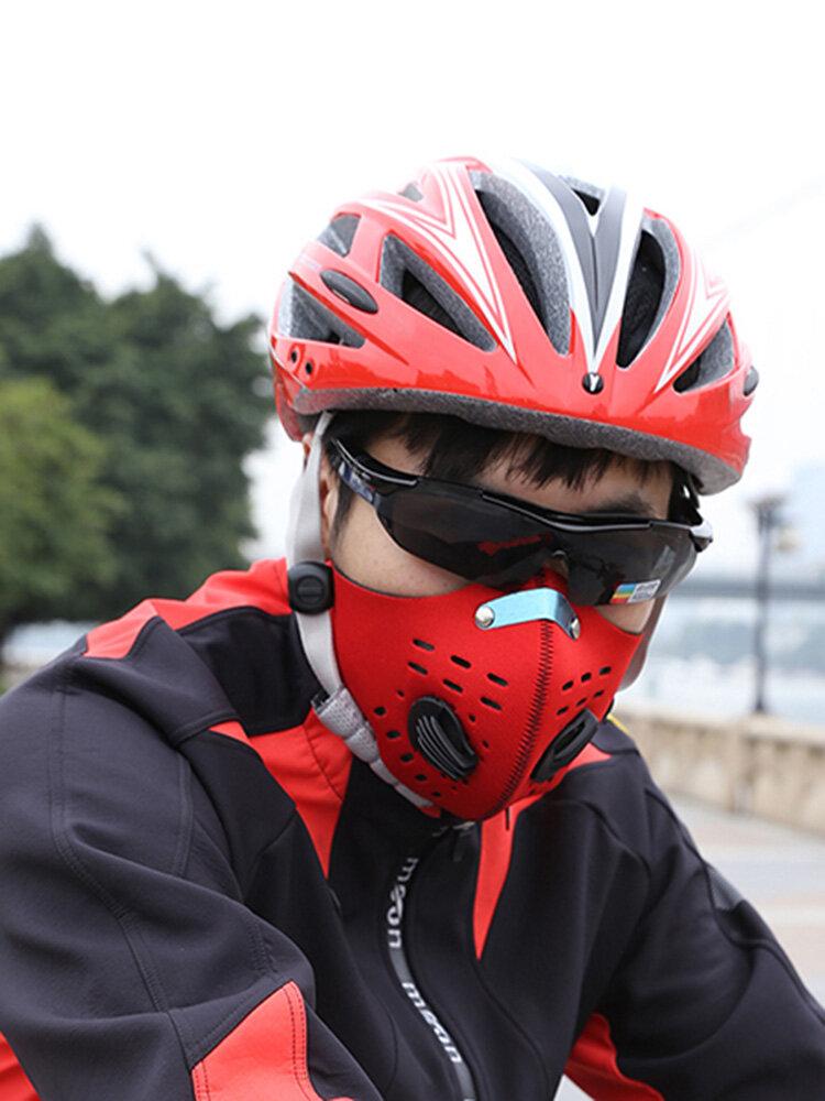 Filtro de protección de gas PM 2.5 a prueba de polvo Ciclismo Bicicleta Carbón activado Mascara