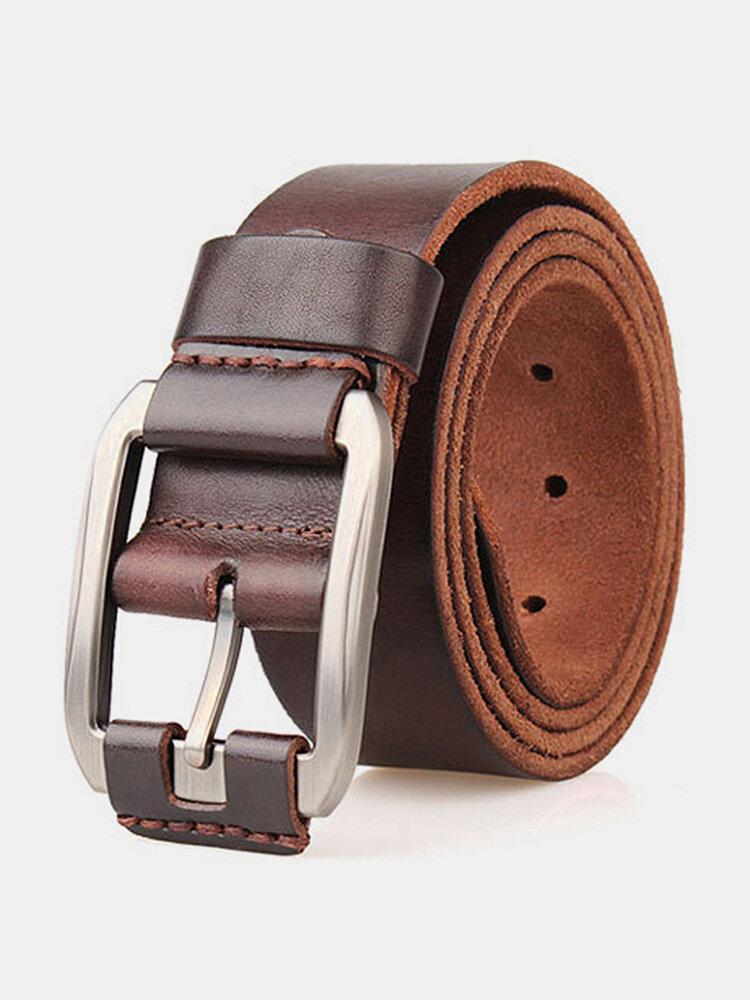 Cinturino in vita da uomo in vera pelle Cintura Spilla da cintura casual retrò Cintura