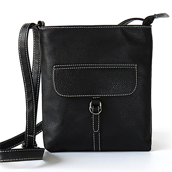 Women PU Leather Vintage Messenger Bag Crossbody Bag