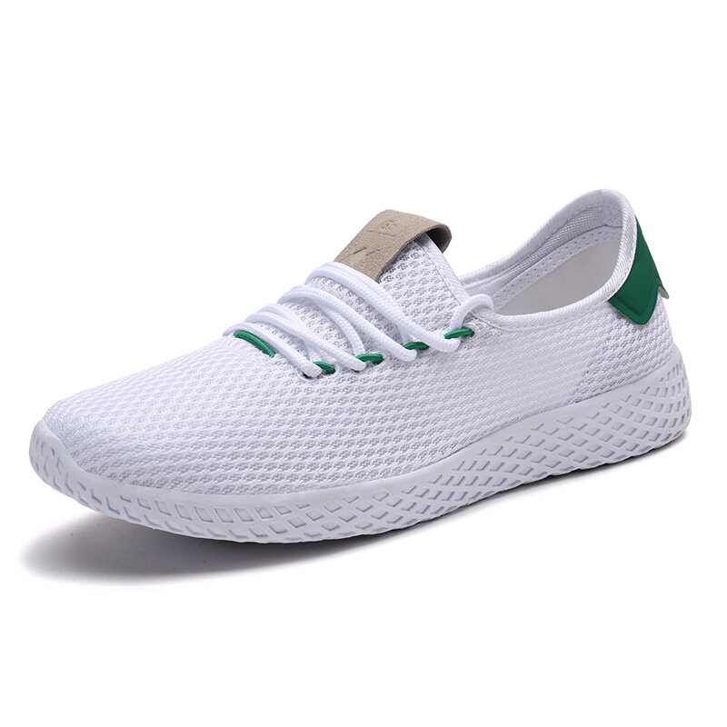 Men Mesh Fabric Breathable Lighweight Non Slip Sport Casual Sneakers