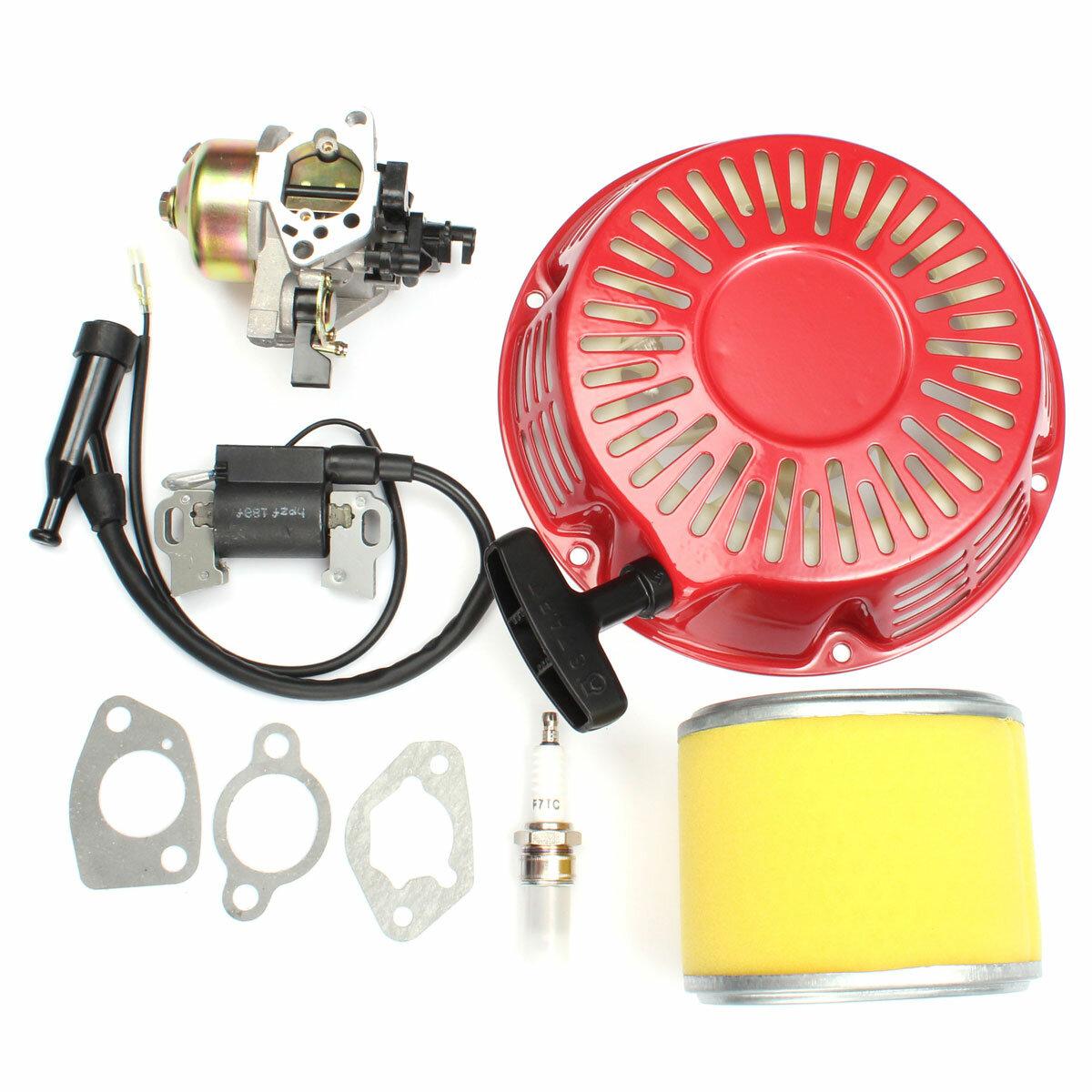 <US Instock>Honda GX340 GX390 13HP के लिए Recoil Carburetor इग्निशन कॉइल Spark प्लग एयर फिल्टर
