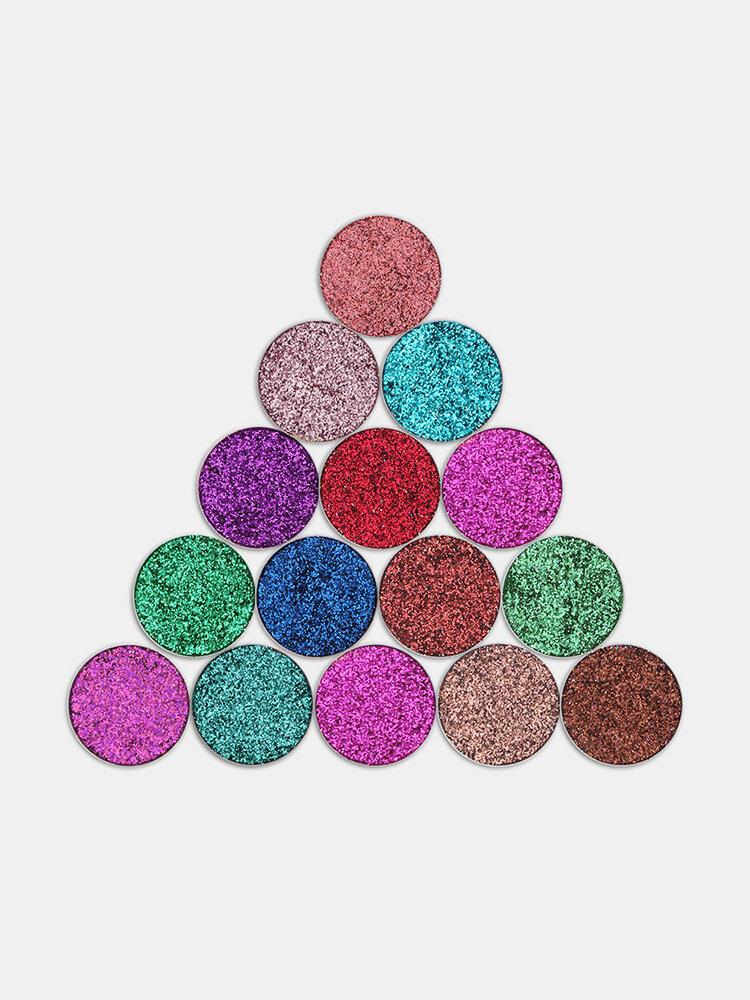 TZ Pressed Glitters Single Eyeshadow Diamond Rainbow Eyes Make Up Cosmetics