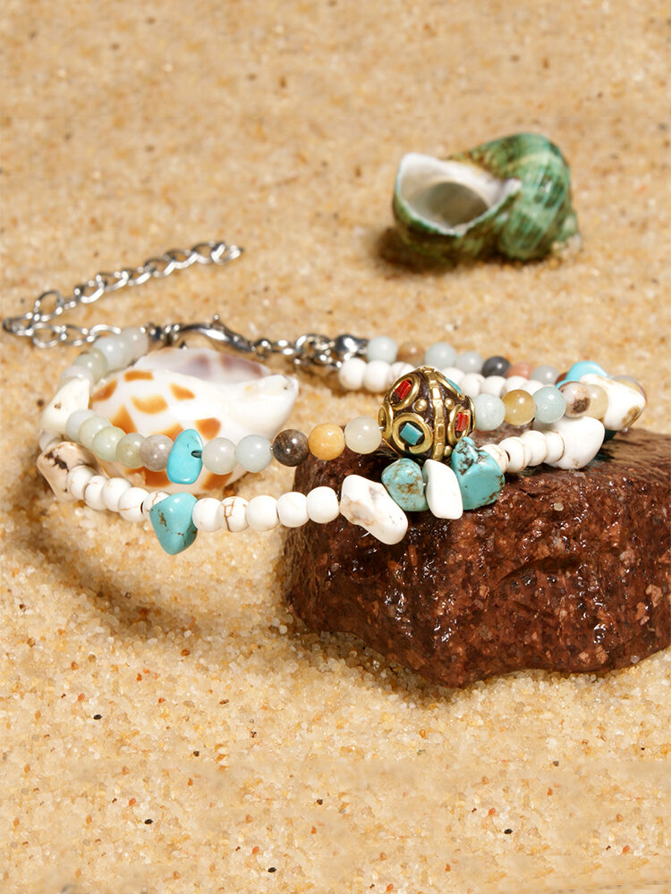 Irregular Colorful Turquoise Anklets