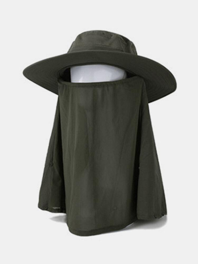 Wide Brim Detachable Bucket Hat Flod Camping Fishing Outdoor Sport Sun UV Protection Cap