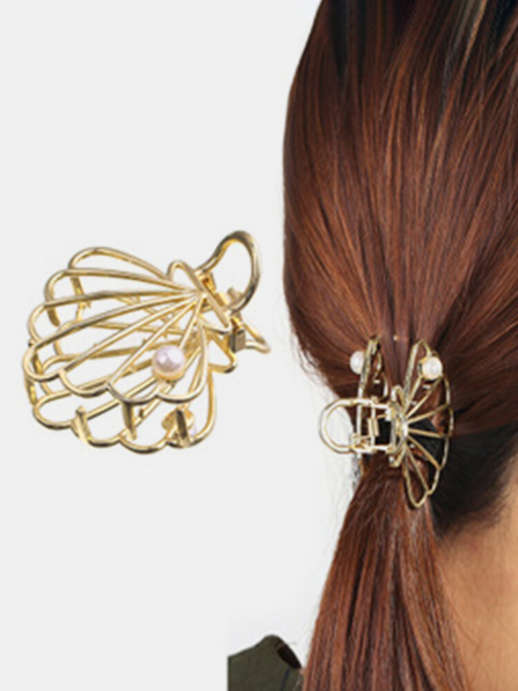 幾何学的な金属の髪の爪半円の月の形のヘアクリップ爪マットヘアピンヘアアクセサリー