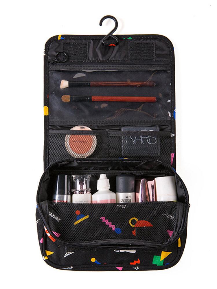 Cartoon Pattern Business Travel Hook Wash Bag Portable Large Capacity Cosmetics Storage Bag