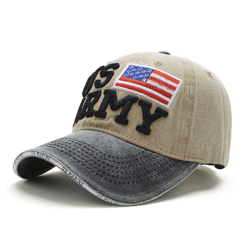 ユニセックスヴィンテージ愛国心が強い野球帽スタイリッシュな苦しめられたアメリカ国旗キャップカウボーイハット