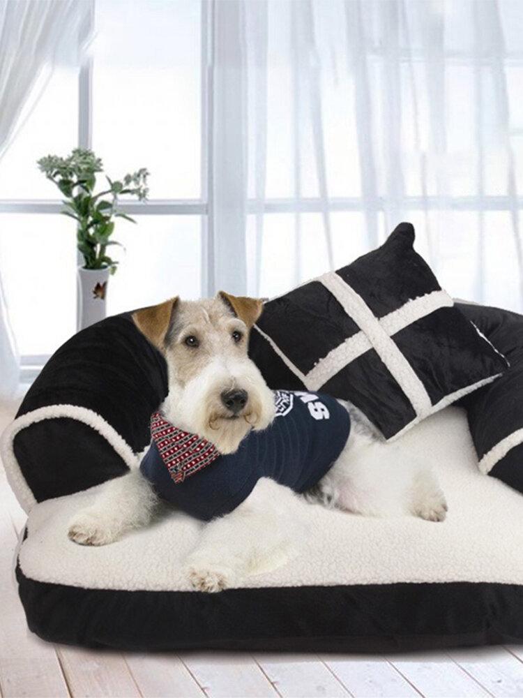 3色EUスタイルの豪華なペットのソファーベッド犬猫取り外し可能な冬のソファーベッド犬小屋