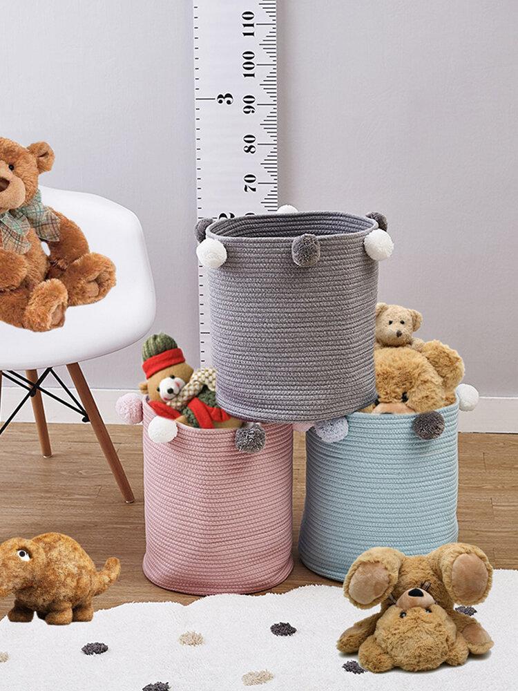 Household Hair Ball Storage Basket Laundry Basket Toy Storage Basket Dirty Clothes Storage Bucket