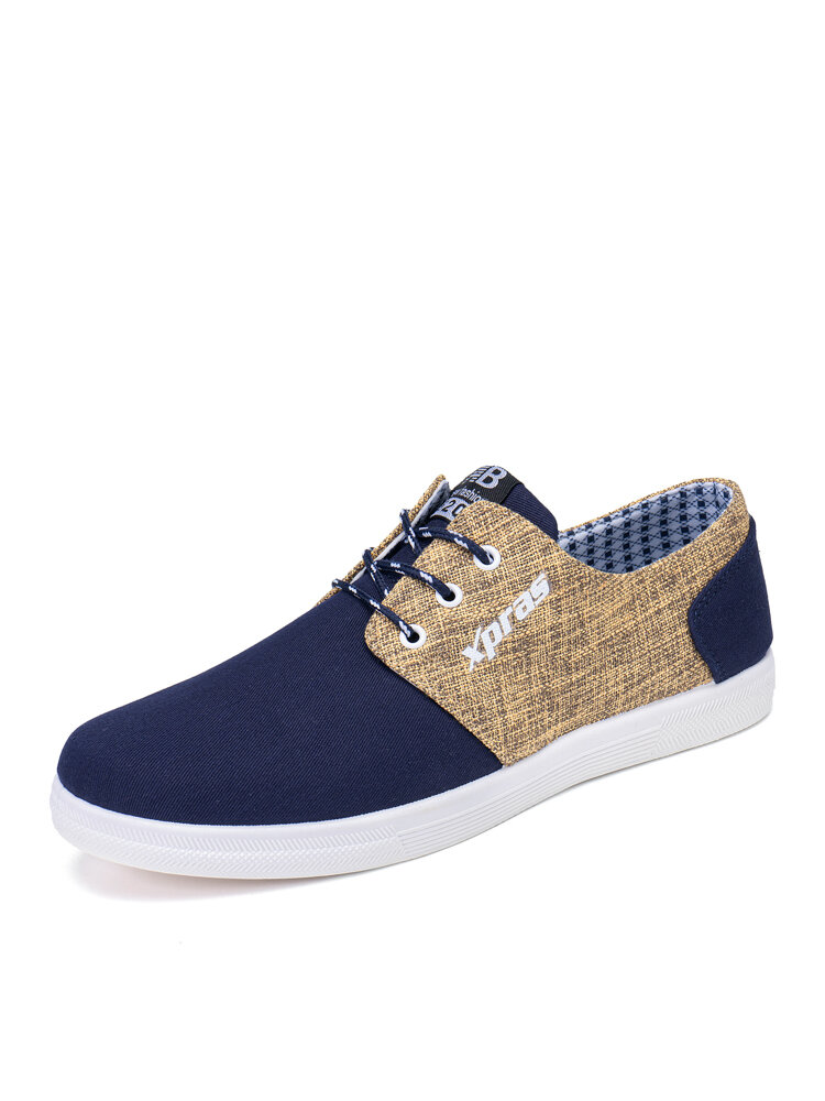 Men Casual Lace-up Patchwork Soft Non Slip Comfy Old Peking Shoes