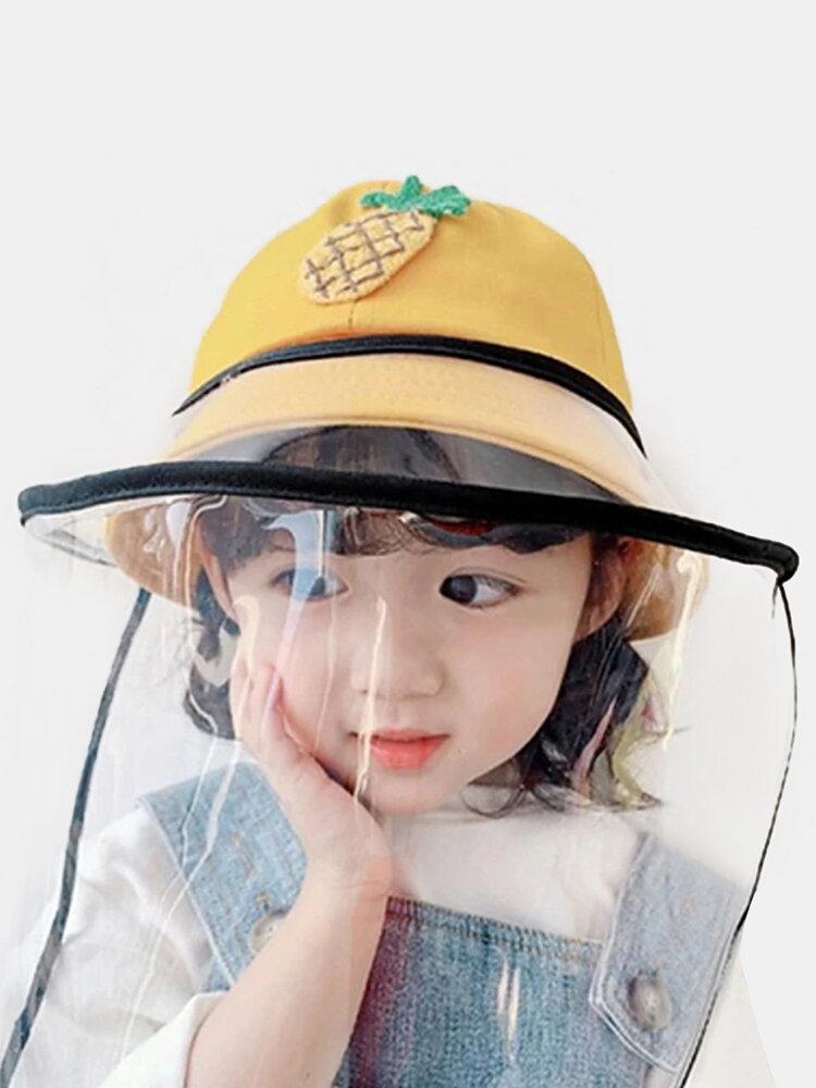 Children's Dust Cap Detachable Face Screen Windproof Transparent Fisherman Hat