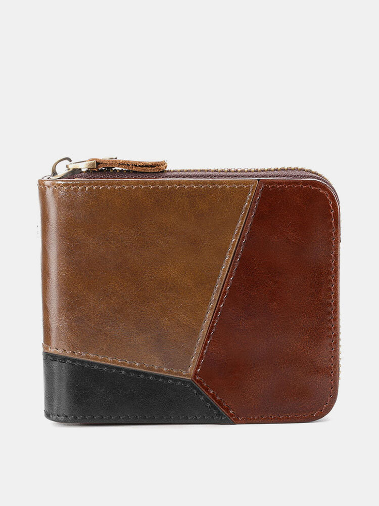 Genuine Leather Multi-slots Casual Card Holder Wallet Purse For Men