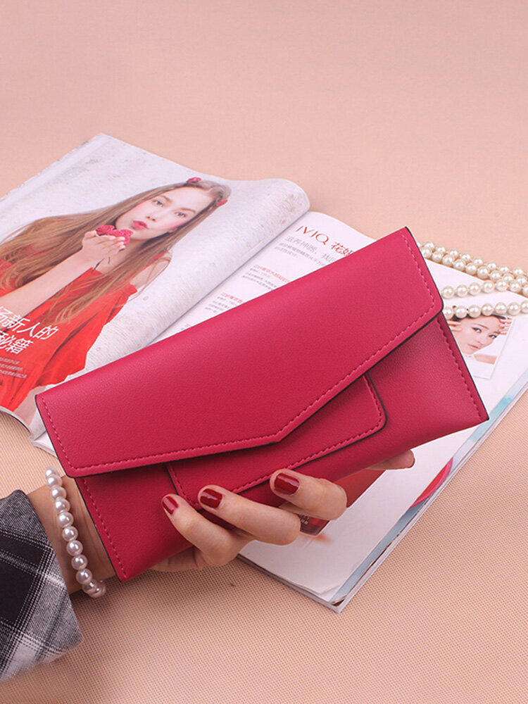 Women PU Leather Ultrathin Card Holder Wallets Purse Functional Wallet