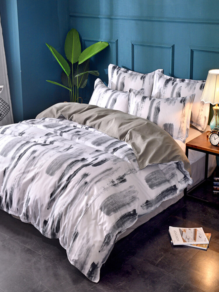 Home Textile Modern Simple Style Foreign Trade Bedding Three-Piece Set