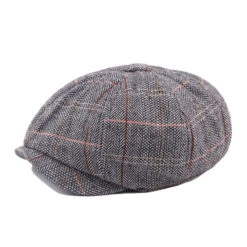 Mens British Style Gentleman Octagonal Beret Hats Casual Newsboy Painter Forward Caps