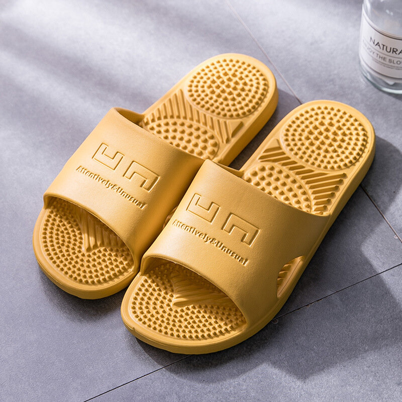 Women House Bathroom Massage Acupoints Sole Flats Slippers