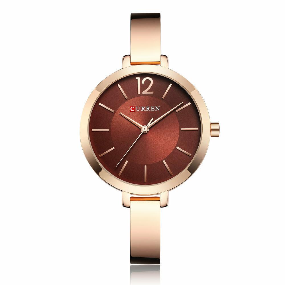 Estuche de aleación estilo casual para mujer, reloj de pulsera, reloj de cuarzo resistente al agua