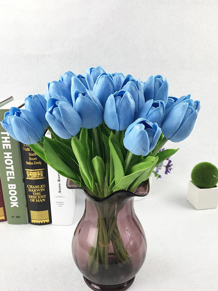 10ピース偽造シルクチューリップフローレスArtificialesブーケパーティー造花