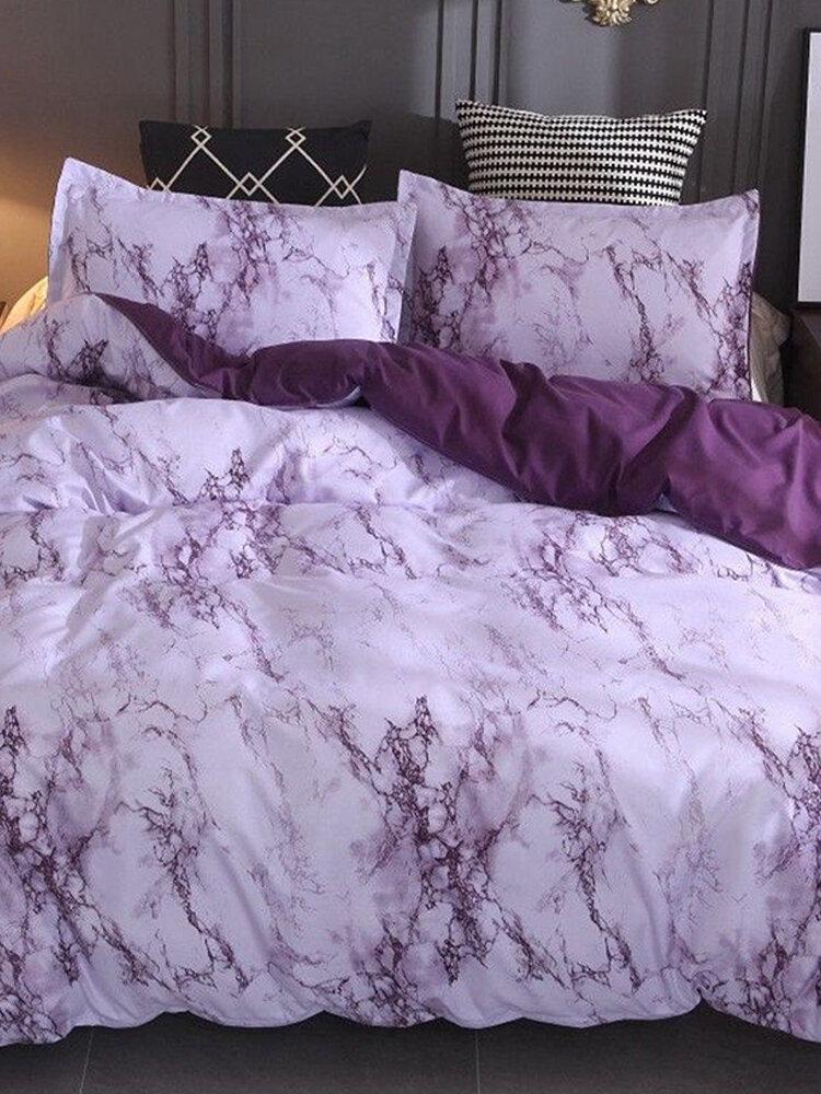 Home Textiles Three Pieces Set  Bed Suite Pillow Quilt Set No Sheet