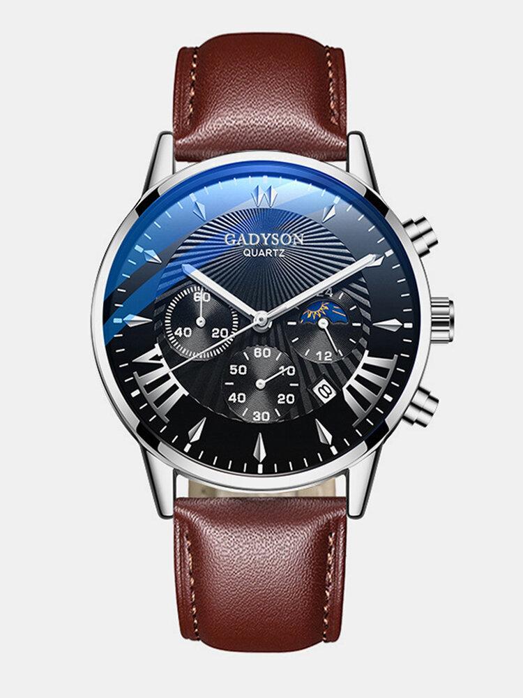 11 Colors Men Business Watch Leather Alloy Mesh Band Calendar Luminous Quartz Watch