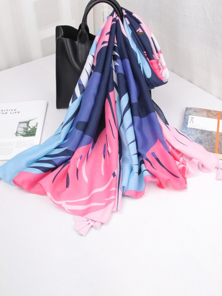Women Priting Colorful Sunshade Beach Scarves Shawl Breathable Soft Scarf