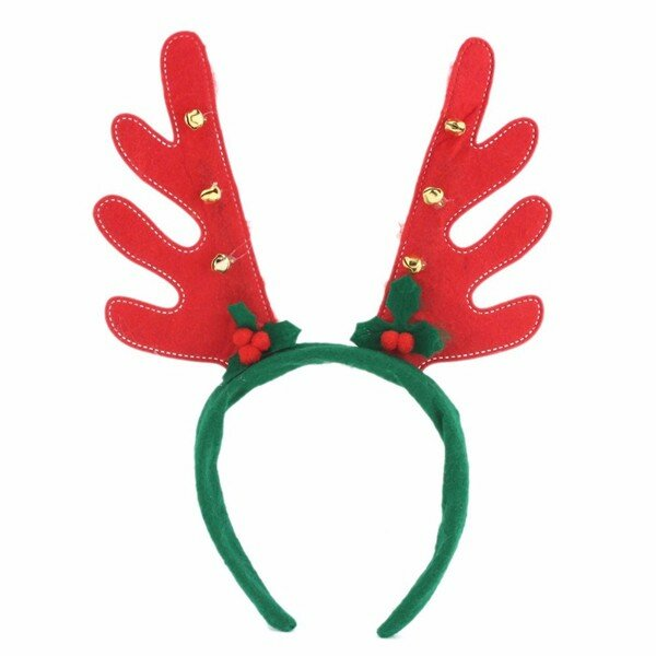 Cute Party Decoration Deer Horn Small Bell Hair Band Gift