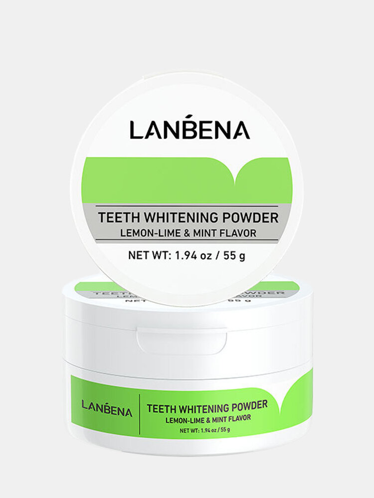 Natural Lemon Teeth Whitening Powder Remove Tartar Stains Tooth Cleaning Oral Care