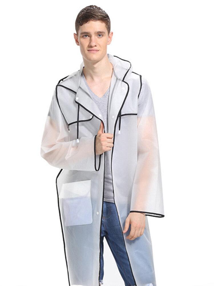 Fashion Couple EVA Environmental Raincoat Transparent Outdoor Travel Vattentät Raincoat