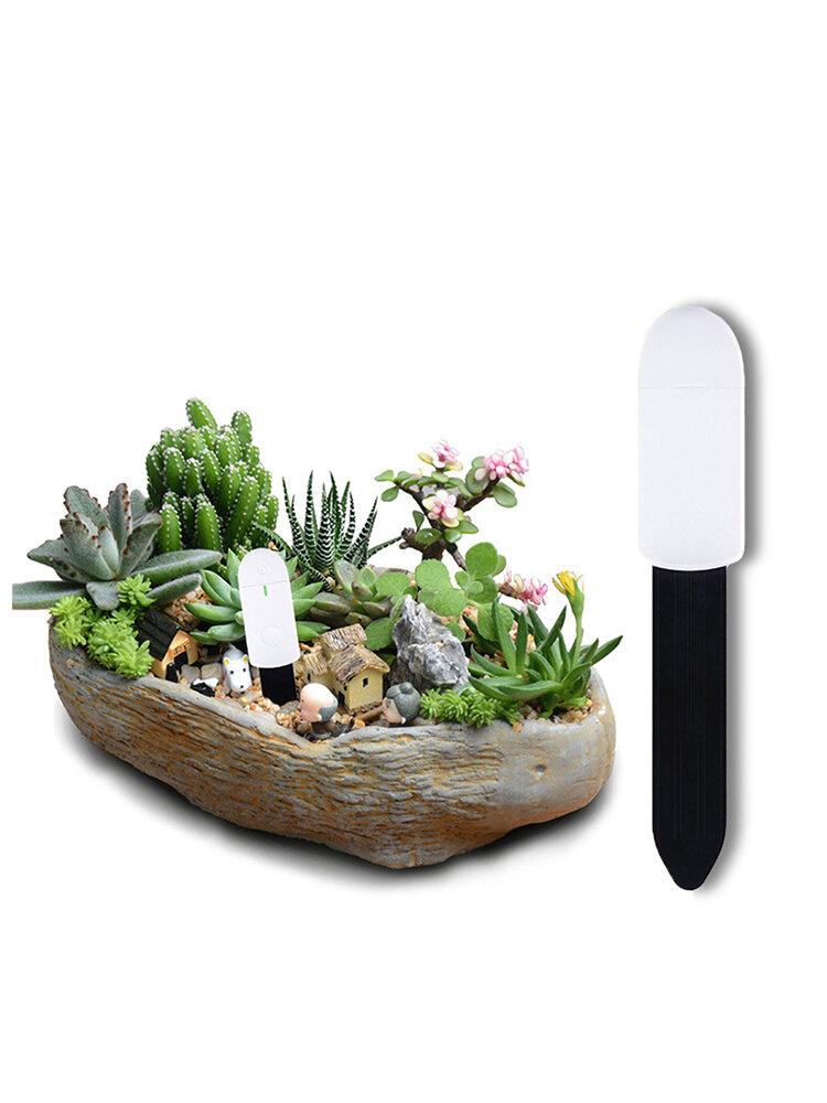 Probador de humedad del suelo de plantas de jardín Flor de interior Bonsai Humedad Monitor con indicador de luz