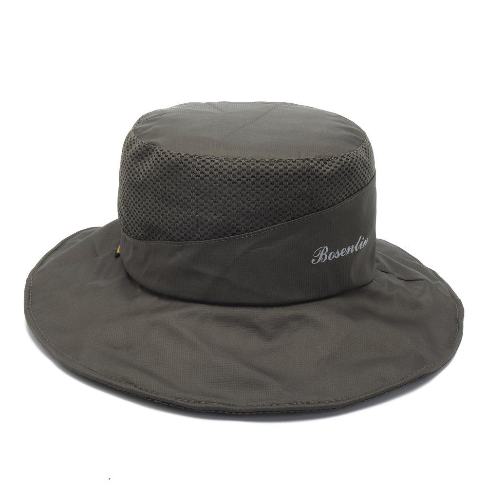 Men Women Foldable Quick-drying Bucket Hat Wide Brim Sunscreen Breathable Visor Fisherman Cap