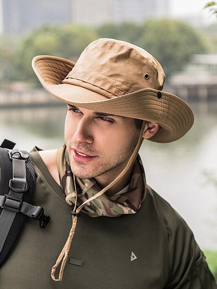 メンズレディースシルクバイザーバケットハットフィッシャーマンハットアジャスタブルチンストラップ折りたたみ帽子