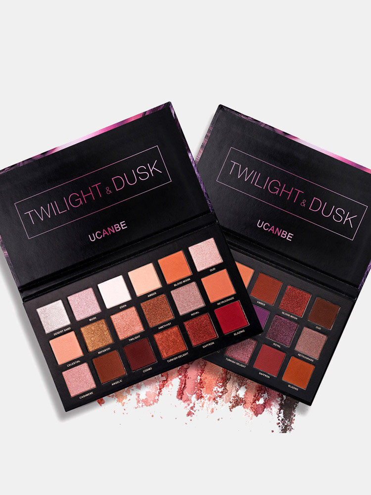 18 colores oro rosa paleta de sombra de ojos de larga duración ahumado paleta de sombra de ojos brillo sombra de ojos mate