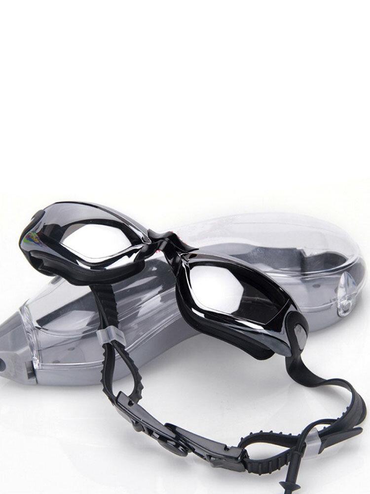 Мужские женские плавательные Очки Прозрачные Водонепроницаемы Противотуманные беруши для плавания Очки