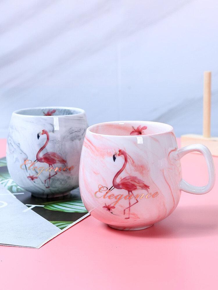 كوب ماء للزوجين إبداعي قطعة واحدة أكواب سيراميك رخامية فنجان قهوة بنمط وحيد القرن