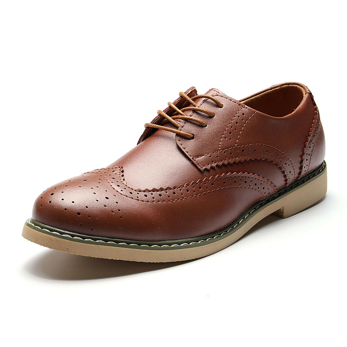 Men's Hollow Out Brogue Pointed Toe Vintage Classic Casual Oxfords Shoes