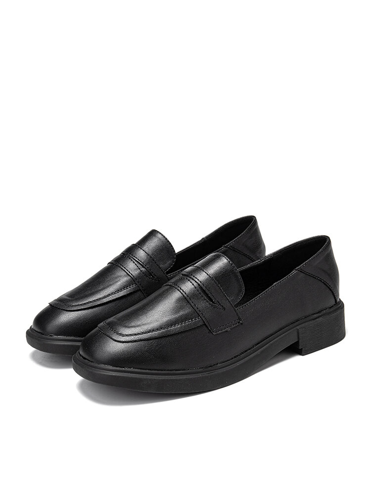 Women's Casual Solid Color Slip On Flat Loafers Shoes