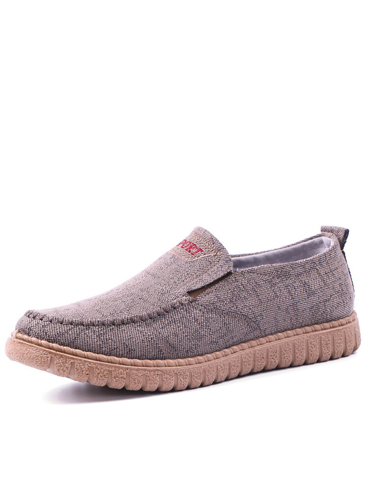 Men Breathable Light Weight Soft Old Peking Style Cloth Shoes