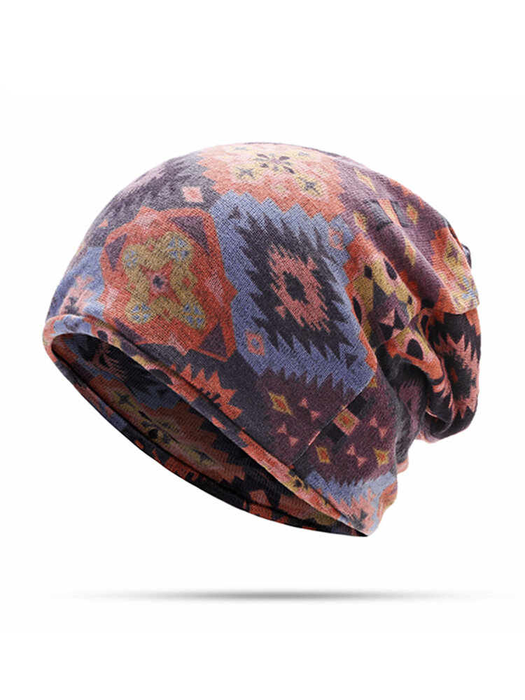 Women Hedging Cap Skullies Beanies Caps Bonnet Double Layer Windproof Cotton Scarf