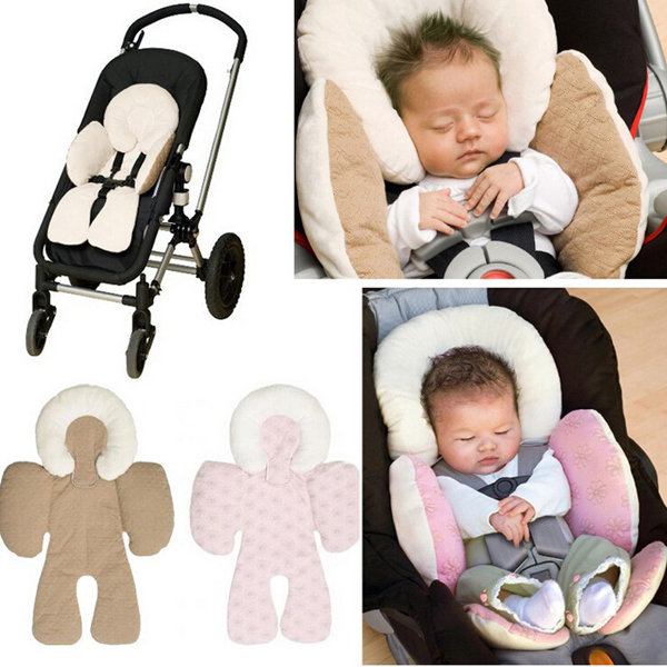 Baby Kid Protect Body Support Compliance Car Seat Stroller Reversible Cushions Pad