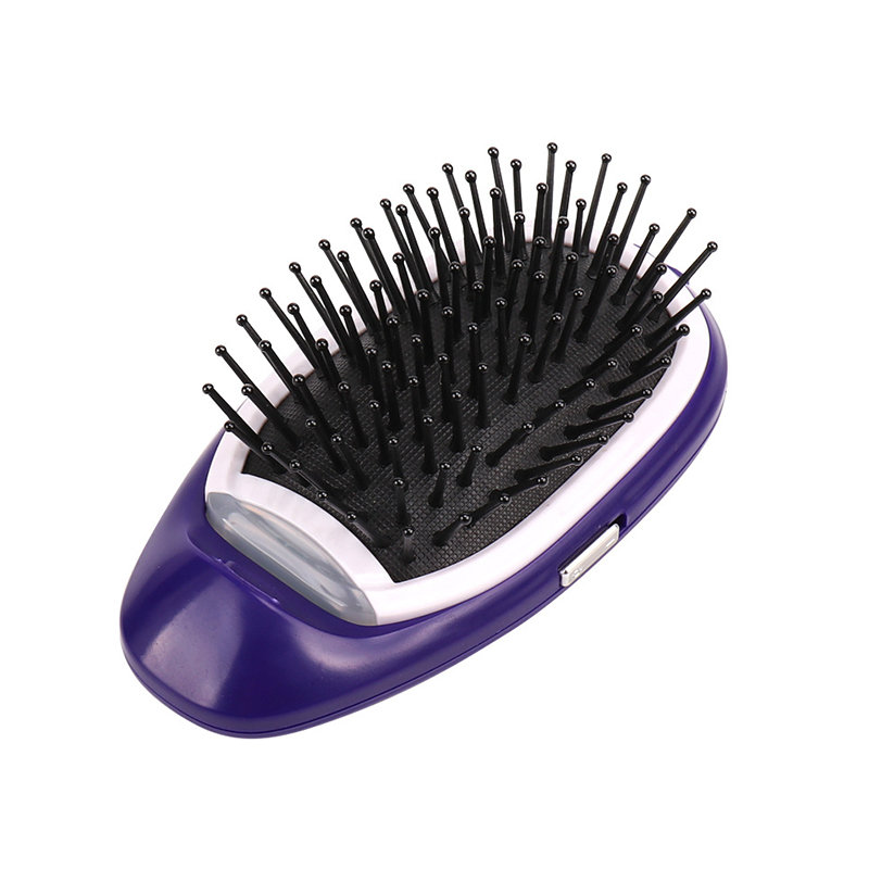 Portable Electric Ionic Hairbrush Anti-Static Vibration Massage Straight Hair Comb Hair Health Care