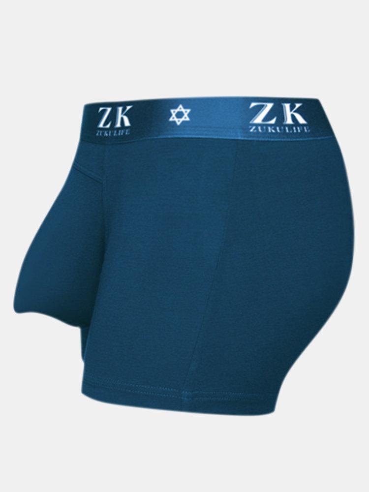 ZK Sexy U Convex Chick Mouth Boxer Modal Antibacterial Absorption Breathable Underwear For Men