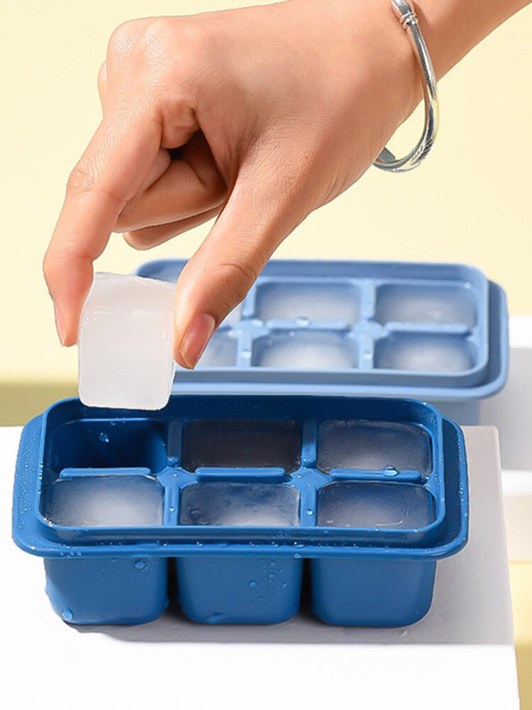 Homemade DIY Ice Grid Quick Freezer Household Personalized Ice Box Small Grid With Cover For Ice Cube Mould Set