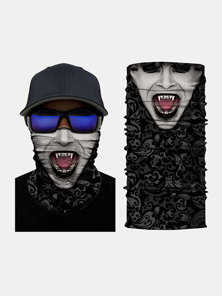 3D Joker Digital Printing Sports Variety Magic Riding Hood Mask Hood