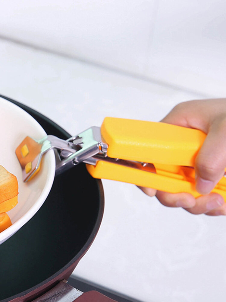 Anti-scalding Anti-skid Clip Kitchen Gadgets Multi-function Stainless Steel Take Bowl Clips