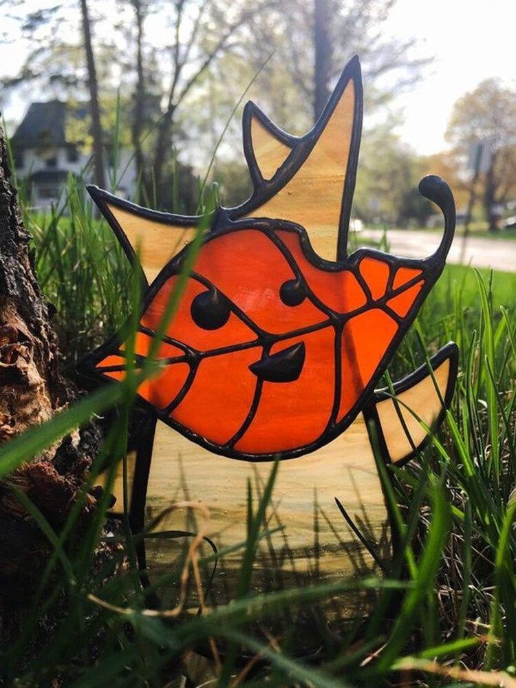 1PC Acrylic Koroks Family Zelda Game-theme Leaf Fairy Insert Card For Garden Decor Game Lovers