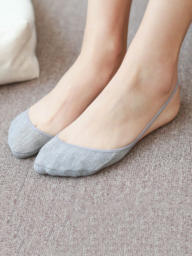 Women Summer Half Cotton Bottom Wire Harness Stealth Socks Shallow Mouth Invisible Boat Socks