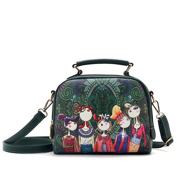 12d2642f549 Women Bohemian Forest Series Crossbody Bag Print Flower Shoulder Bag